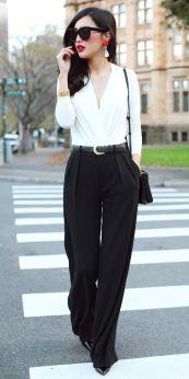 Los pantalones palazzo estan muy de moda y te dan un estilismo perfecto para una entrevista (Si tienes poca cadera son perfectos para ti)