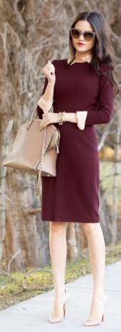 Un simple vestido recto con los accesorios correctos te da un resultado perfecto.