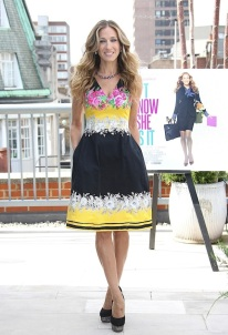 sarah-jessica-parker-Prabal-Gurung-Resort-2012-Floral-Print-Dress-4