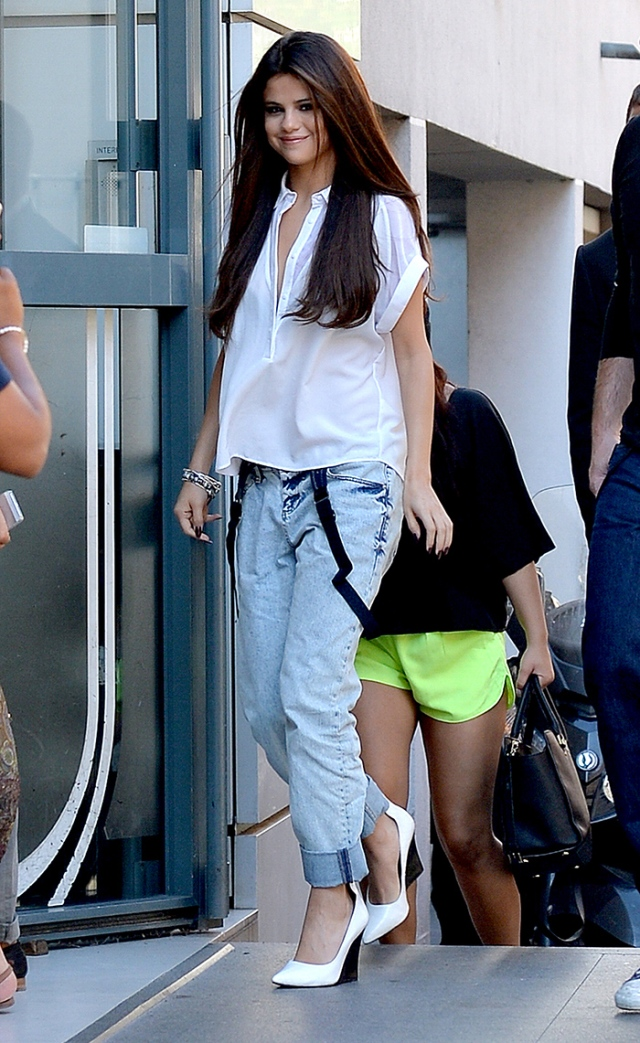Selena Gomez leaves the NRJ Radio Station after an interview**USA ONLY**