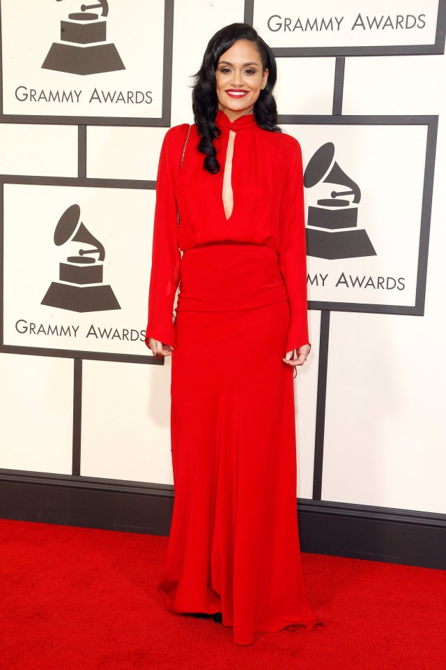 kahlani-grammys-red-carpet-2016