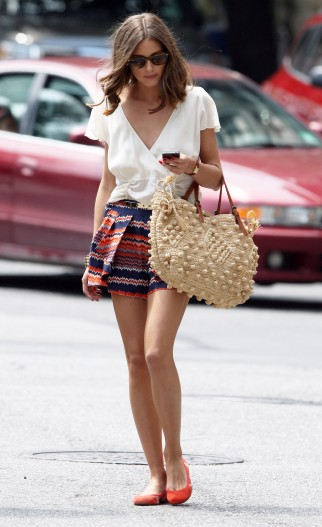 Socialite Olivia Palermo spotted out and about in New York City, New York on May 26, 2012. RESTRICTIONS APPLY: USA ONLY