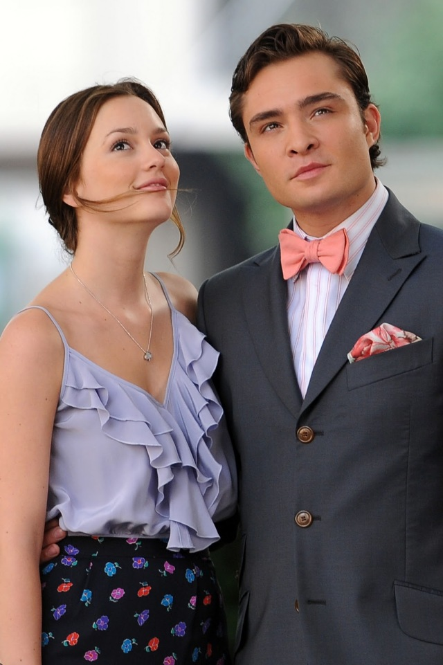 Leighton Meester and Ed Westick Formal Wear